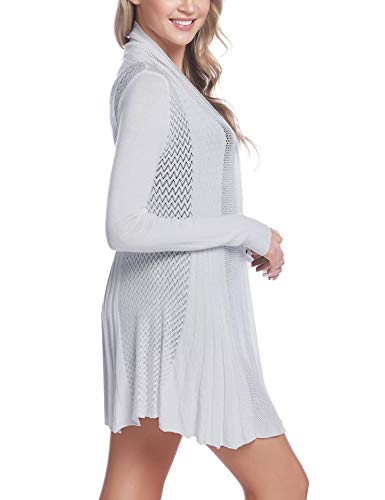 iClosam Womens Casual Knitted Long Sleeve Lightweight Open Front Cardigan Sweater
