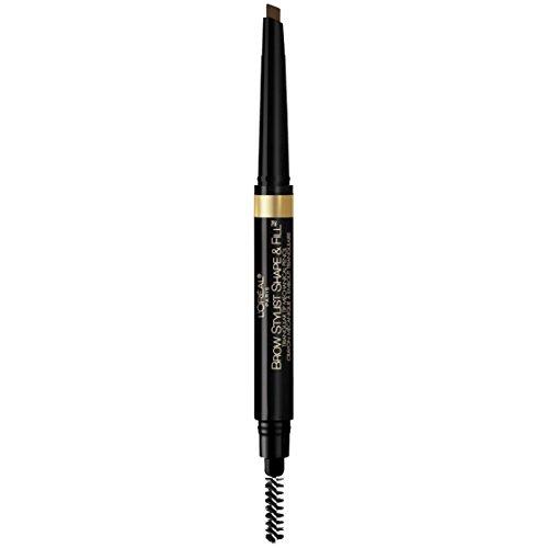 L'Oréal Paris Makeup Brow Stylist Shape & Fill Mechanical Eye Brow Makeup Pencil, Dark Brunette, 0.008 oz.