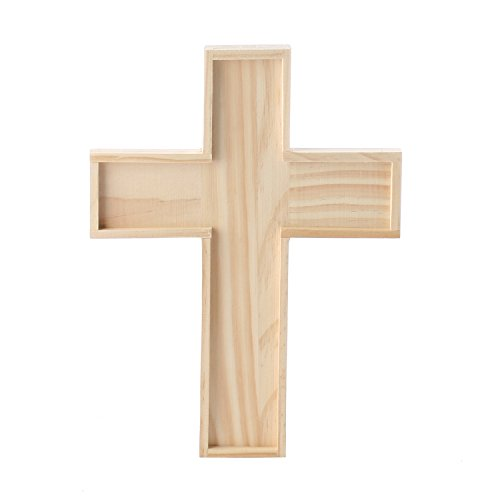 Unfinished Wooden Crosses for Painting and Crafting | 6 Crosses for $<!--$17.36-->