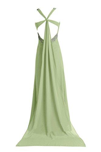Schleppe Chiffon Trager Abendkleid Ivydressing Damen Rueckenfrei Sage Promkleid Ballkleid qEfwHCnw