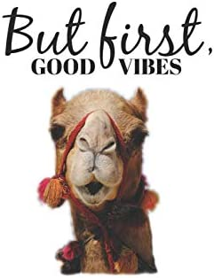 But First Good Vibes: Funny Camel Lover Journal/ Notebook