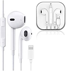 Bluetooth Earphones Headphones Earbuds with Microphone and Noise isolating Headset Made Compatible with iPhone XS/XR/X/8/7 Earphones iOS 10/11/12b White