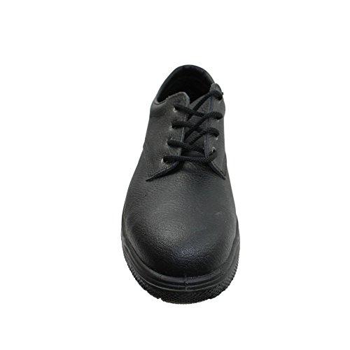 Jal Group Calzado de Protección de Piel Para Hombre, Color Negro, Talla 38