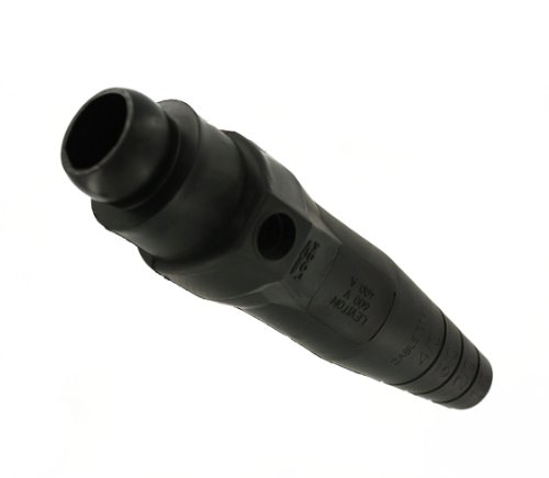 Leviton 18D32-E 18-Series Ball Nose, Female, Plug, Detachable, Single Set Screw, Cam-Type Connector, Black (Ball Nose Female Detachable Plug)