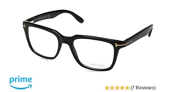 bdb01b1412bd Amazon.com  TOM Ford Eyeglasses Tf 5304 001 Shiny Black Tf5304-001-54mm   Clothing