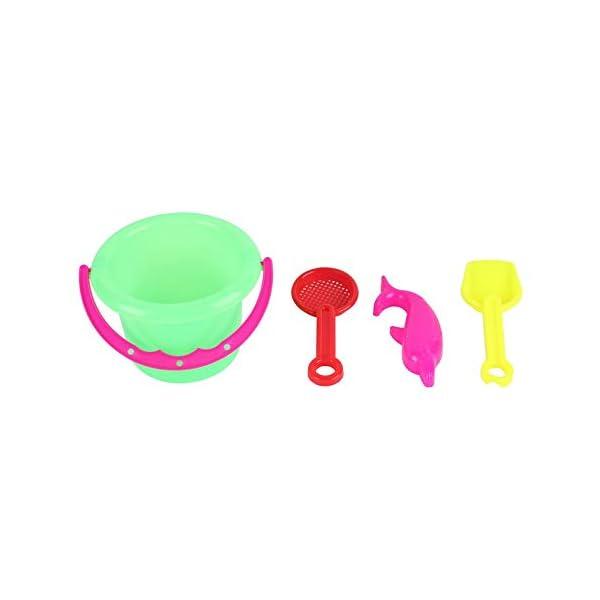 CamKpell 4pcs novità Mini Beach Toys Set Secchiello di Sabbia Secchio con Pala Rake Summer Pool Spiaggia di Sabbia Gioca… 5 spesavip