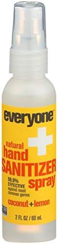 EO Products Hand Sanitizer Spray for Everyone,Coconut+Lemon, 2 Fluid Ounce