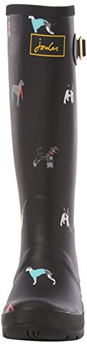Tom Agua Joule Botas Black Cosy Print de Mujer Black Welly Dogs dxxfrwq7X