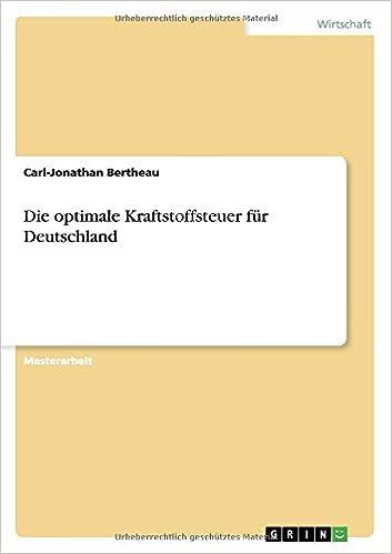 Book Die optimale Kraftstoffsteuer für Deutschland