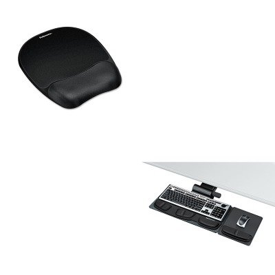 KITFEL8036001FEL9176501 - Value Kit - Fellowes Professional Premier Adjustable Keyboard Tray (FEL8036001) and Fellowes Mouse Pad w/Wrist Rest (FEL9176501) by Fellowes