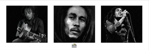 Beyond The Wall Bob Marley Black and White Reggae Rastafarian Music Legend Icon Poster Print 12 by 36