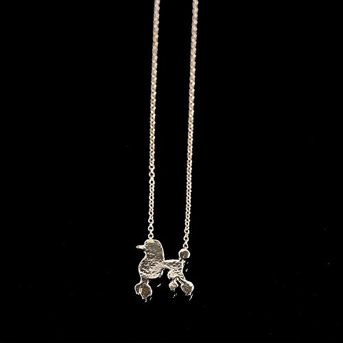 Poodle Jewelry (Cute Poodle Dog Pendant Necklace - Fashion Jewelry - Dog Lover Gift - Gold Plated)