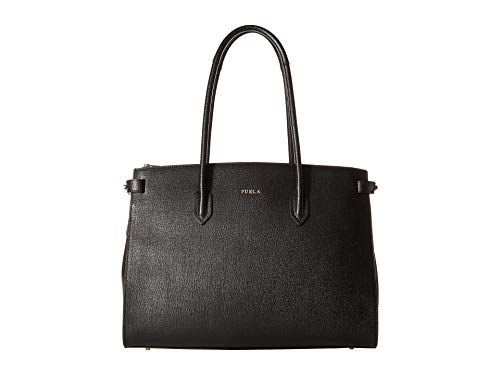 - Furla Women's Pin Medium East West Tote, Onyx, Black, One Size