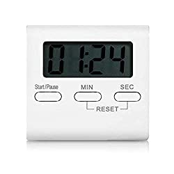 Kicthen Cooking Countdown Timers Kids Pocket Backlit Stopwatch Large Display Digital Timer Loud Alarm Wall Clock Magnetic with Stand (Battery included)