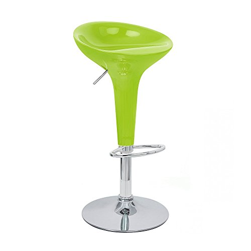 Bombo Bar (Modern Home Alpha Contemporary Bombo Style Adjustable Barstool, Set of 2, Lime Green)
