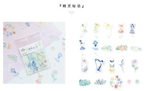 Cute Stickers - Unicorn Flower Spirit Decorative Stationery Stickers Scrapbooking DIY Diary Album Stick Lable (03)