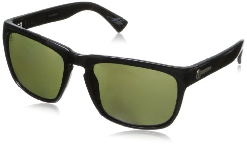 Electric Visual Knoxville Gloss Black/OHM Polarized Blue - Electric Black Top Sunglasses