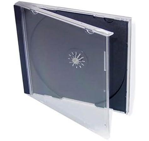 Mables - Set de cajas para CD/DVD (100 unidades), color negro y transparente: Amazon.es: Electrónica