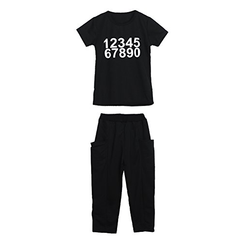 Diamondo Toddler Kids Boys Girls Number Print Short Sleeve T-shirt Tops Pants Outfit (Cute Construction Worker Costumes)