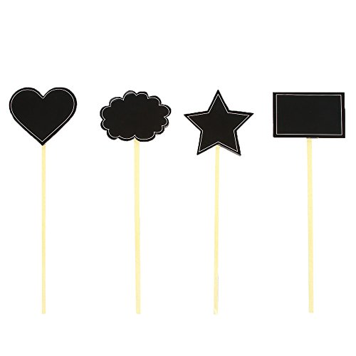 Hosley Set of 12 Blackboard Floral Picks - 9.7