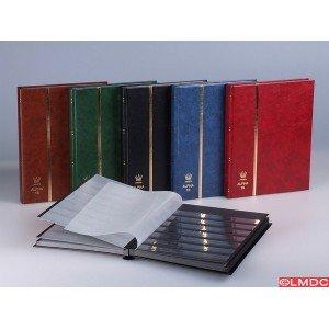 Archivador de filatelia Alpha 16-16 hojas, 32 páginas, color azul: Amazon.es: Oficina y papelería