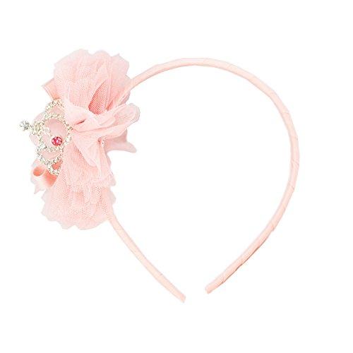 [FRILLS Pouf Baby Girl Tiara Hairband - Perfect Wedding Flower Girls Headband Accessories (Blush)] (Kitten Bear Costume)