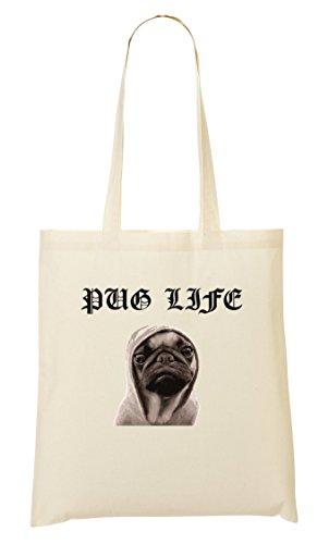 CP Pug Life Cool Thug Bolso De Mano Bolsa De La Compra