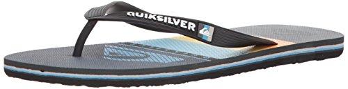 Quiksilver Mens Molokai Highline Slab Sandal Black/Grey/Blue vk6TGEVF