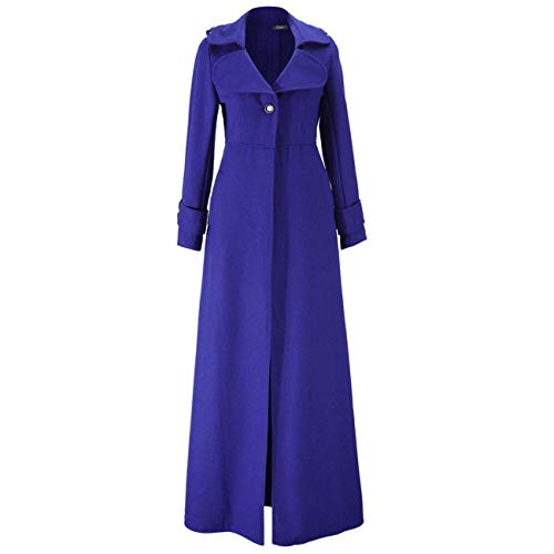 Lana Donna Blu Long Maxi In L Da Nero Chinese colore Cappotto Zhrui Lungo Dimensione Invernale nA6WcStW