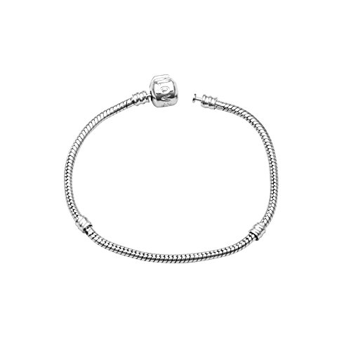 Lovind Glamour Fashion Snake Bone Type Bracelet Chain Silver Plated Delicate and Fancy Design for Female Girl Gifts x 1 Piece