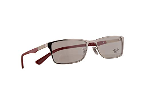 Ray-Ban RB 6248 Eyeglasses 54-17-145 Silver Red w/Demo Clear Lens 2501 RX RX6248 ()