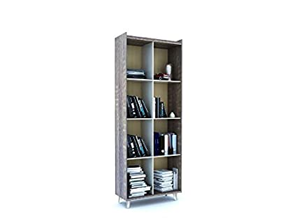 Forzza Archer Book Shelf (Dark Oak and White)