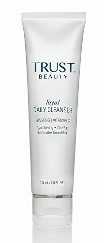 Daily Facial Cleanser by TRUST Beauty with Vitamin C for All Skin Types for Women and Men 3.5oz - All Natural Vegan Anti Aging Daily Use Face Cleanse to Help Reduce Impurities & Add Radiance to Skin