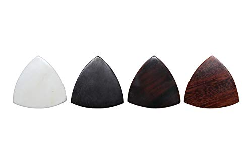 PICKMANN Flexiwood Style Tri-Tip Exotic Sampler Guitar Picks Plectrums Value Pack for Gypsy Jazz/Electric/ Acoustic/Archtop Jazz Guitar Made from Bone, Ebony, Horn & Tamarind
