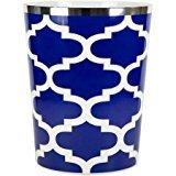 Mainstays Fretwork Wastebasket, Navy/White by Supernon
