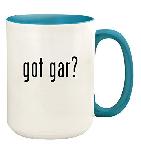 got gar? - 15oz Ceramic Colored Handle and Inside Coffee Mug Cup, Light Blue (Lasalle Three Light)