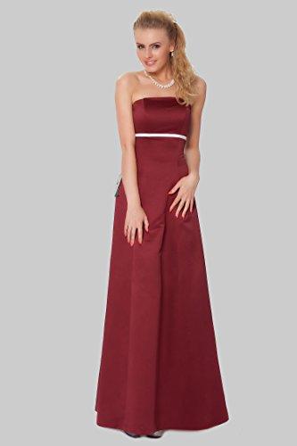vestido Encuadre entero de noche damas sin de cuerpo SEXYHER de Granate de formal EDJ1598 las honor Gorgeous tirantes qAg77