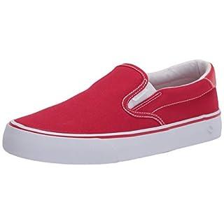 Lugz Women's Clipper Classic Slip-on Fashion Sneaker, Mars Red/White, 7.5