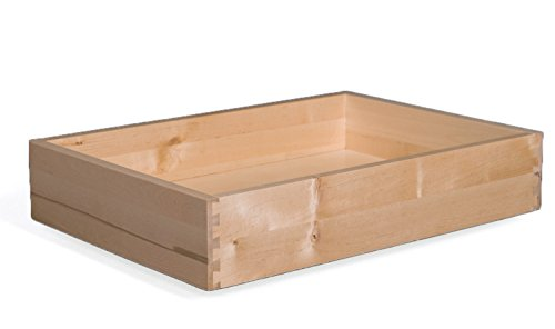Cabinet Doors 'N' More 4'' H x 11'' W x 18'' D Solid Wood Drawer Box by Cabinet Doors 'N' More