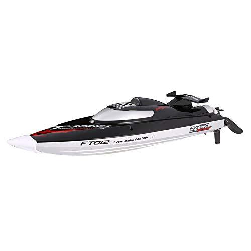 WEIWEITOE-DE Feilun FT012 2.4G RC Boot 45km schwarz, h Hochgeschwindigkeitsrennboot Schnellboot Schiff mit b/ürstenlosem Motor Wasserk/ühlsystem umgedreht RTR