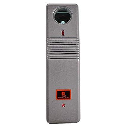 Alarm Lock Pilfergard 95 Decibel Dual Piezo Siren Surface Mount Door Alarm, 9V Battery, Metallic Silver Finish