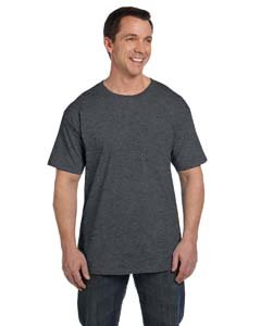 Hanes Short Sleeve Beefy Pocket T-Shirt - 5190, Charcoal Heather, - Maryland In Outlets Clothing