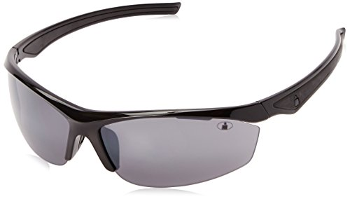 Ironman Men's Ready Wrap Sunglasses, Shiny Black, 71 - Glasses Ironman