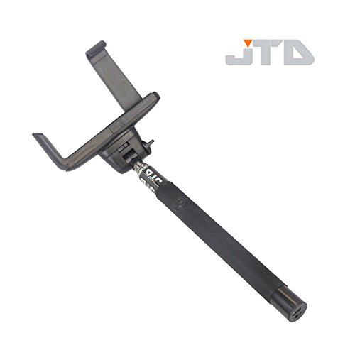 Two Thumb Clamp Position (JTD Extendable Wireless Bluetooth Monopod Selfie Stick Self Portrait Video Built-in Remote Shutter Button for Samsung Galaxy S5 S4 S3 S2 Note 4 3 2, iPhone 6 6 Plus 5s 5c 5 4s 4, HTC One M8 M7 X, Google Nexus, Sony Xperia Z3 Z2 (Black))