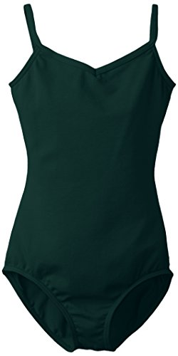 Capezio Big Girls' Classics V-Neck Camisole Leotard, Hunter Green, Medium
