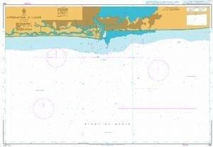 Ba Diagramm 1381  appoaches bis Lagos von UNITED KINGDOM Hydrographic Büro