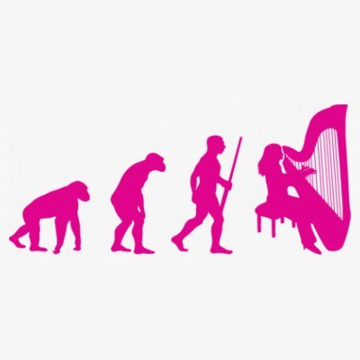 Sudadera con capucha de mujer Harpist Woman Evolution by Shirtcity Blanco