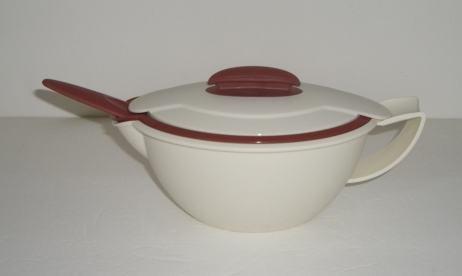 Gravy Blossom Boat (Tupperware Insulated Saucy Server / Gravy Boat with Ladle in Cream & Cinnamon (1-1/2 cups))