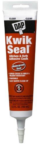 Dap 18008 12 Pack 5.5 oz. Kwik Seal Kitchen and Bath Adhesive Caulk, Clear by DAP (Image #1)