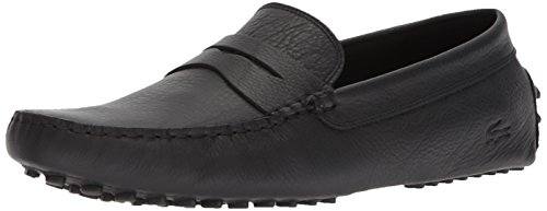 Lacoste Men's Concours Shoes,Black leather,7 Medium US